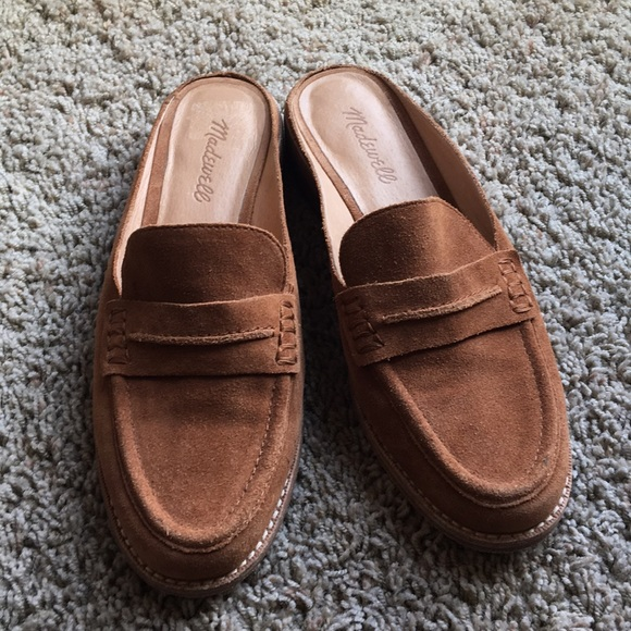 8219740c039 Madewell Shoes - Madewell Elinor Loafer Suede Mule Slip Ons SZ 8.5